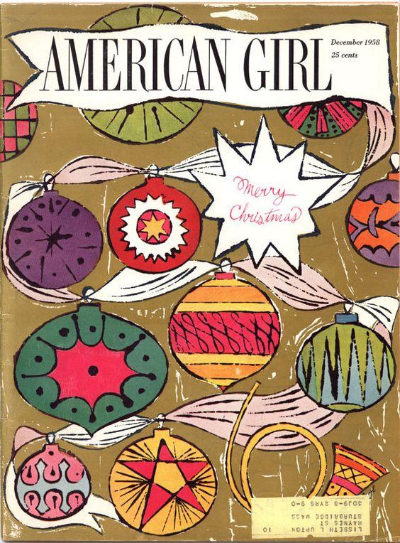 American Girl  magazine. Andy Warhol cover art/1958.