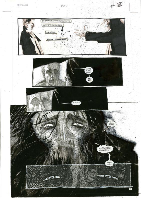 Dave McKean Hold Me Hellblazer page Comic Art