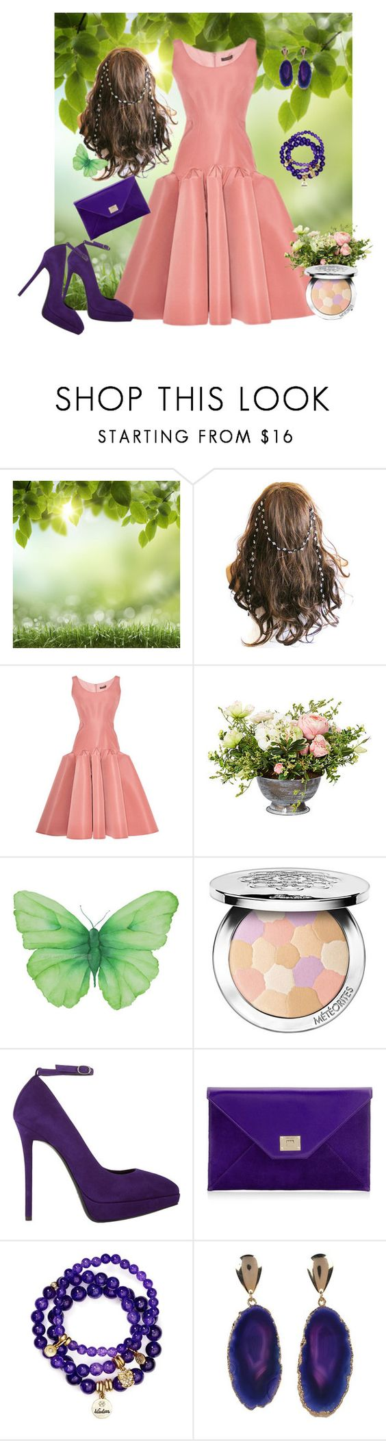 """""""Dreaming of Spring!"""" by armband ❤ liked on Polyvore featuring Zac Posen, Guerlain, Giuseppe Zanotti, Jimmy Choo, Sequin and Valerie Nahmani Designs"""