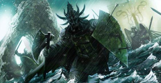 Victarion Greyjoy, Crônicas de Gelo e Fogo. Um personagem de estatura forte, respeitador dos velhos costumes familiares, chamado Capitão de Ferro. Um personagem que me atraiu bastante pela perturbação, devido a acontecimentos do passado, mas também por sua grande garra em campo de batalha.