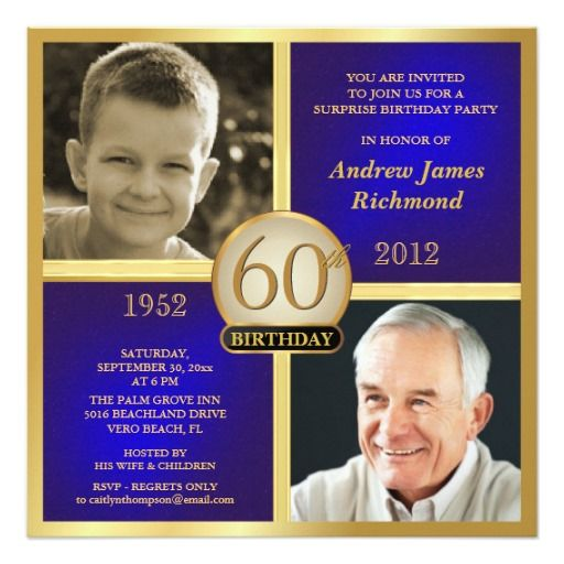 Double Photo Frame, Double Photo And Gold Birthday On