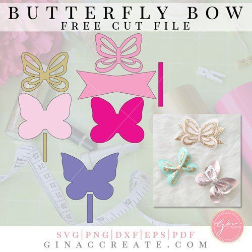 Butterfly Bow Bow Template Templates Printable Free Bows