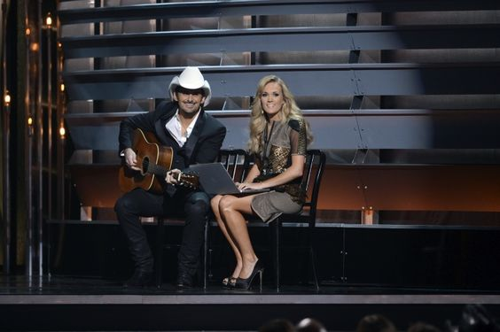 Hosts with the most. Brad Paisley and Carrie Underwood host the 47th CMA Awards on Nov. 6 in Nashville, Tenn.