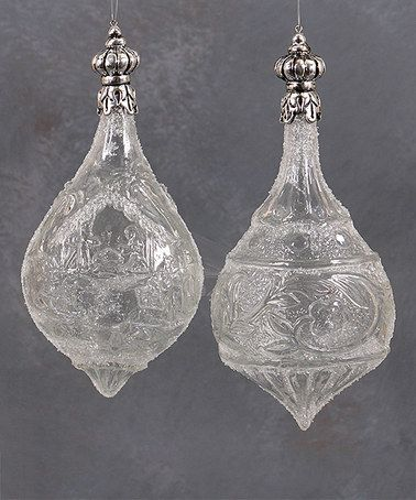 Another great find on #zulily! Etched Tear Drop Ornament Set #zulilyfinds