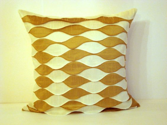 Waves  Decor frills cushion  20x20 inches ivory and by SABDECO, €32.00