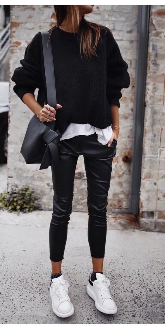 outfits casuales negro