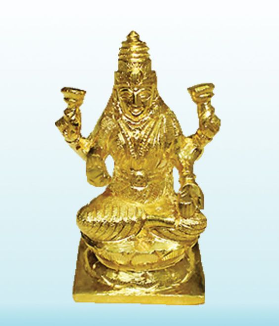 Laxmi Idol In Panchdhatu Religious God Sculpture Festival