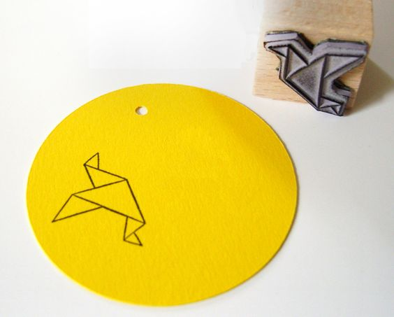 Little origami stamp