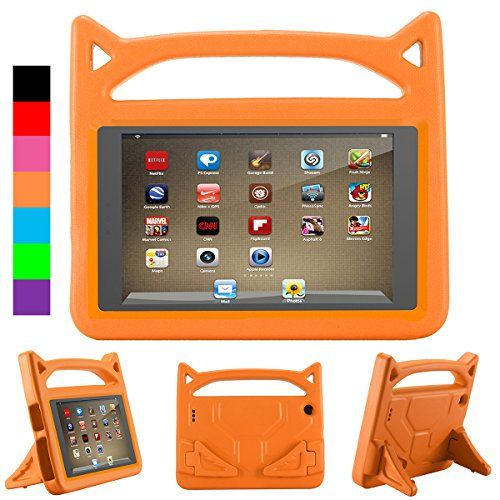 Cartoon Kids Case For Allnew Fire 7 Tablet With Alexa Antike Shockproof Light Weight Handle Kids Friendly Case For Am Kindle Fire Kids Amazon Gadgets Tablet 7