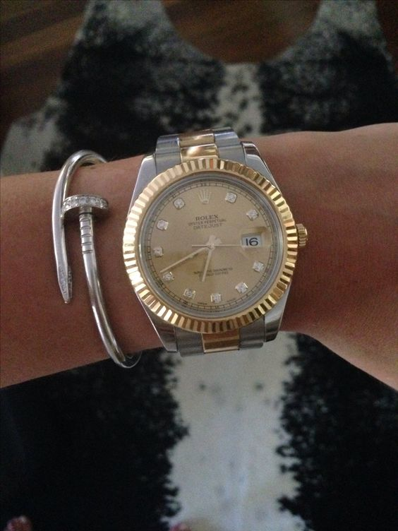 hermes white gold mini clous ring