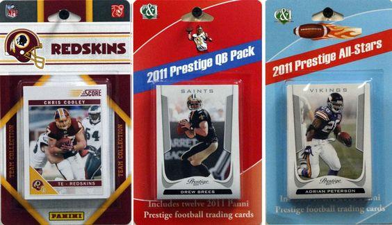 NFL Washington Redskins Licensed 2011 Score Team Set with Twelve Card 2011 Prestige All-Star and Quarterback Set, Price: $17.99