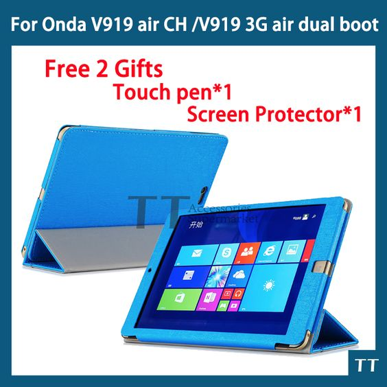 $10.11 (Buy here: http://appdeal.ru/6ozv ) Pu Leather cover case for Onda v919 air ch/V919 3G Air dual boot/v989 air octa core 9.7inch case new version+free 2 gifts for just $10.11
