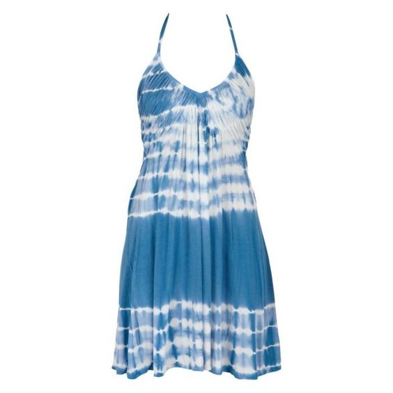 blue white tie dye dress s fashion