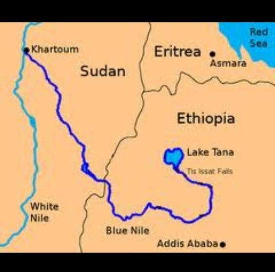 Nile river map location