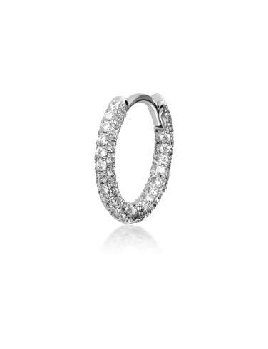 """5/16"""" Diamond Five Row Pave Split Ring Image #1"""