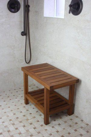 "Amazon.com: 24"" Teak Shower Bench - From the Spa Collection: Health & Personal Care"