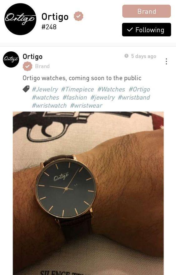 This is Ortigo watch brand, based in Shanghai. #fashioncommunity #fashion #fashionista #fashionadvisory #lawoapp #fashionapp #boutiquebrands #pinterestfashion
