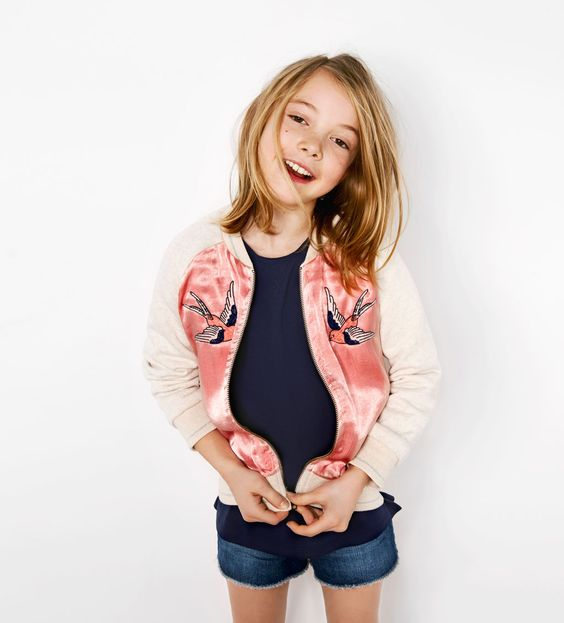 zara kids embroidered bomber jacket for a pinterest zara girls and shop by. Black Bedroom Furniture Sets. Home Design Ideas