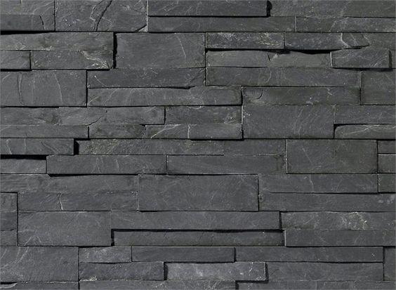 Revestimiento de fachada de piedra natural scaglia nera - Piedra fachada exterior ...