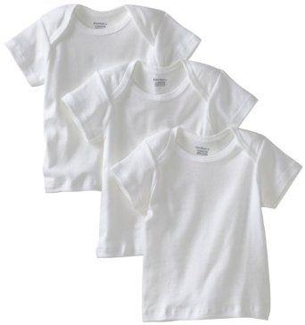 Gerber Unisex-Baby Newborn 3 Pack Pullon Short Sleeve Shirt, White, 12 Months Gerber. $7.99