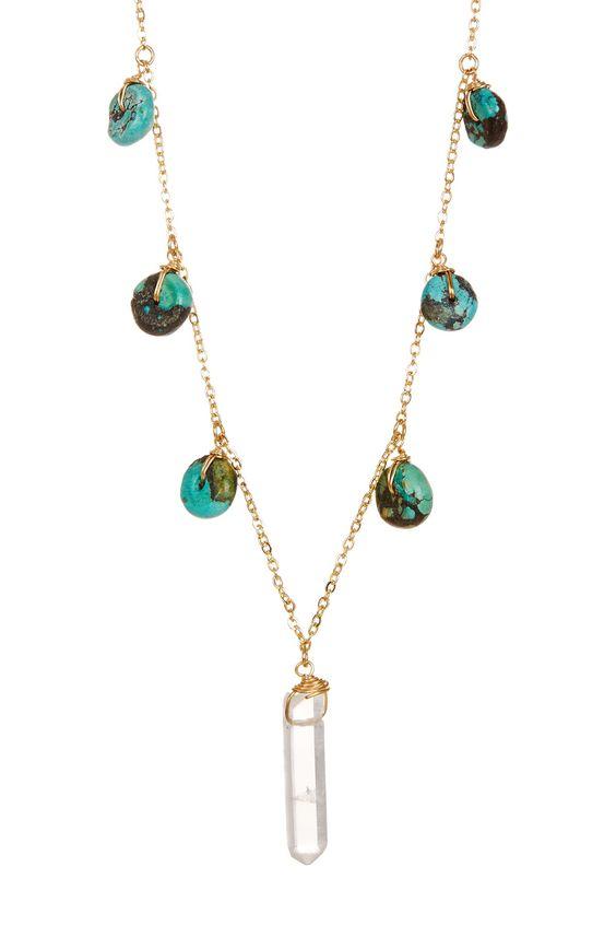 Turquoise & Quartz Necklace by LEILA on @HauteLook