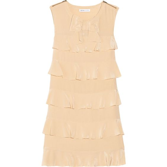 See by Chloé Ruffled silk-crepe dress ($290) ❤ liked on Polyvore