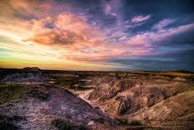 The Badlands National Park, South Dakota.