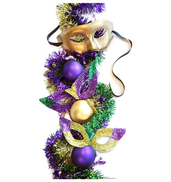 Mardi Gras Party Masks Cardboard Stand-In