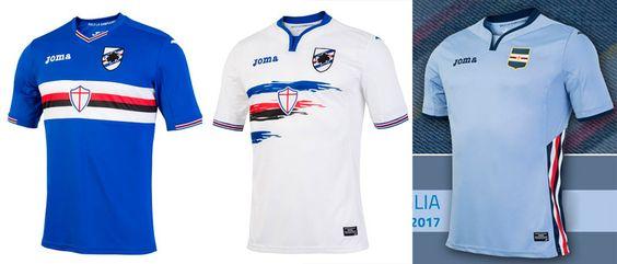 Camisas da Sampdoria 2016-2017 Joma