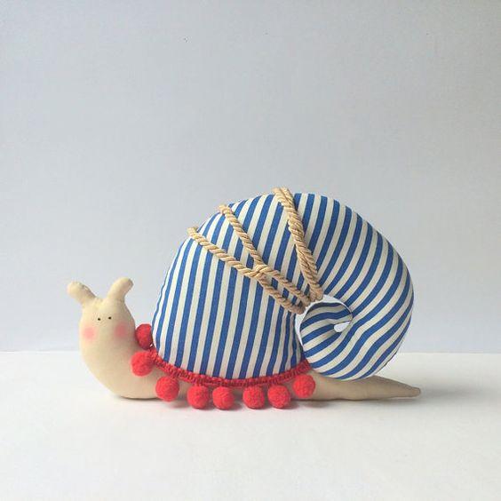 Snail toy stuffed Snail animal toy in modern от CherryGardenDolls