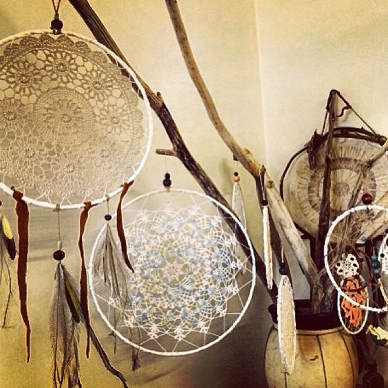 beautiful #dreamcatchers by the talented @dawnwolfdreamer /// for sale SUNDAY at #byronbaymarkets w/#bahgsujewels #Padgram
