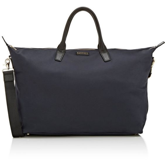 Barneys New York Medium Weekender Bag (8,180 PHP) ❤ liked on Polyvore featuring bags, luggage and blue