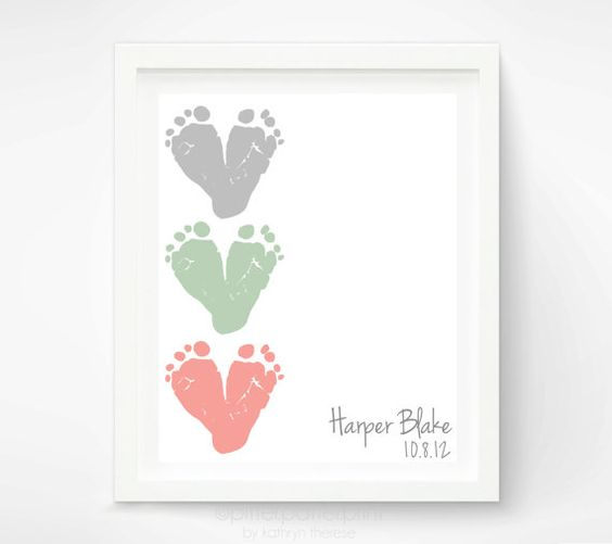 Gift for New Mom  First Mothers Day Gift  by PitterPatterPrint, $30.00