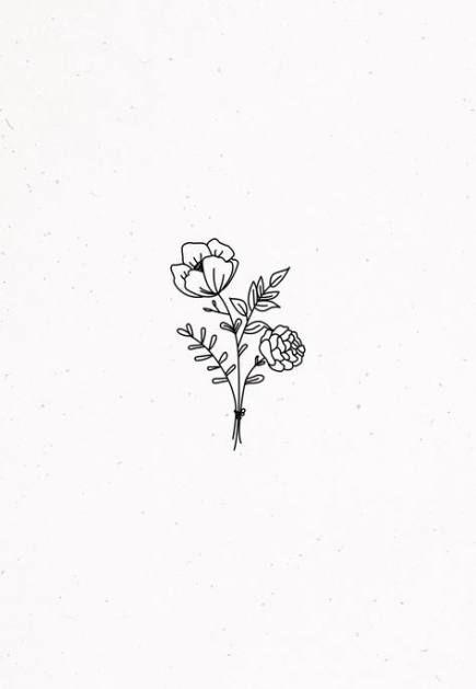 27 Trendy Ideas For Flowers Aesthetic Simple Flower Drawing Flower Doodles Flower Logo