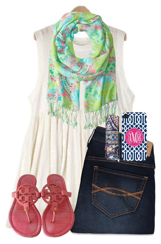 """""""Y is for tor{y} burch... Running out of ideas."""" by maliaackermann ❤ liked on Polyvore featuring Abercrombie & Fitch, Tory Burch, Lilly Pulitzer and Vera Bradley"""