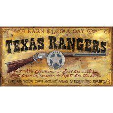Vintage Signs - Texas Ranger