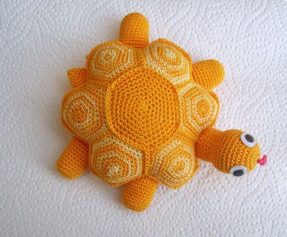 JuliGlut, Schildkröte, orange von haekelfee1968 auf DaWanda.com