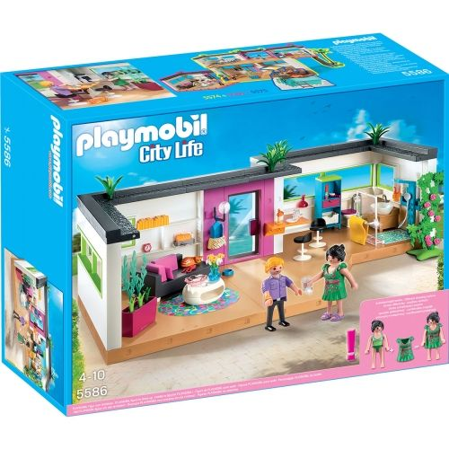 Studio des invit s playmobil city life 5586 playmobil pinterest studios playmobil and for Maison moderne playmobil