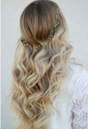 Love the soft curls and the dainty little flowers