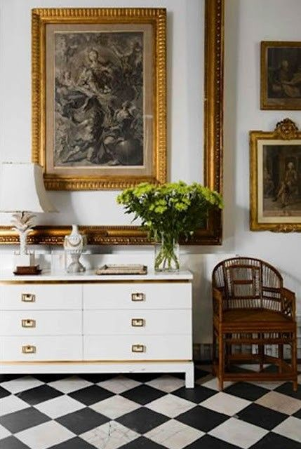Love the picture within the frame...fabulous!: Lorenzo Castillo, Gold Frames, Sass Console, Black White, A Frame, Gold Accent, Art Wall
