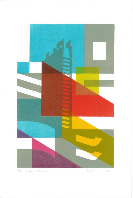 Barbican Shapes Print by Paul Catherall – Barbican Shop