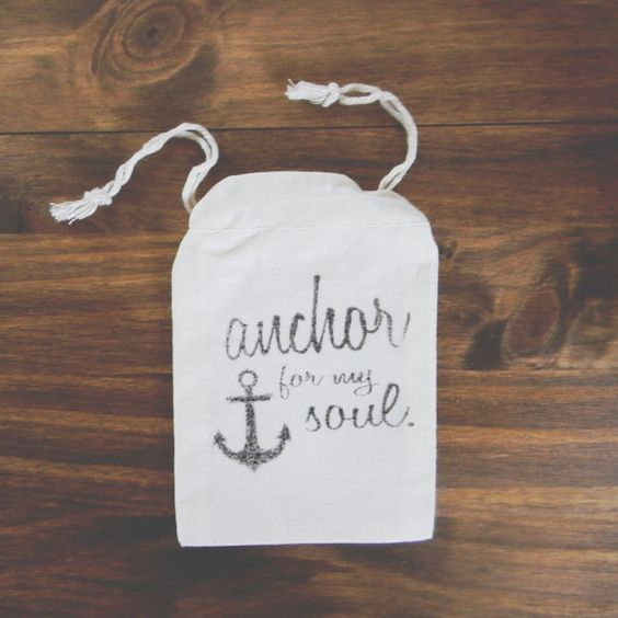 Anchor For My Soul 3x5in Set of 10 Wedding by ParrisChicBoutique