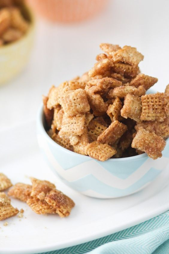 Ingredients 4 1/2 cups Rice Chex™ cereal 4 1/2 cups Corn Chex™ cereal 1cup packed brown sugar 1/2 cup (1 stick) salted butter 1/4 up light corn syrup 1/4 teaspoon baking soda 2/3 cup granulated sug…