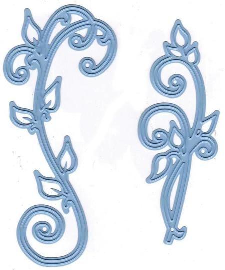 Marianne Design Dies  Creatables Die - Anja's Vintage Swirls Marianne Design LR0271