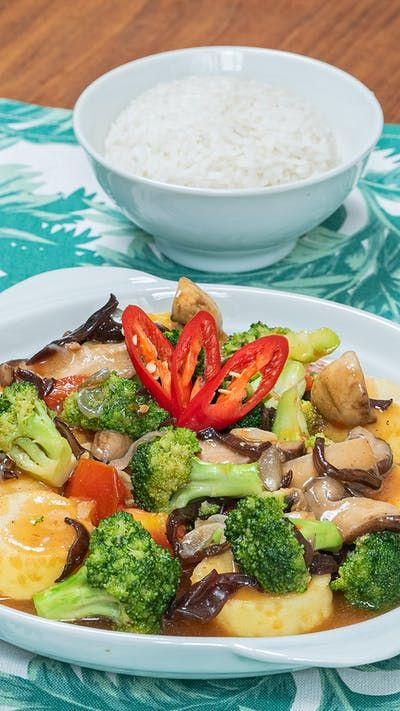 Tumis Brokoli Jamur Tofu Resep Resep Di 2020 Resep Masakan Resep Makanan Resep Masakan Indonesia