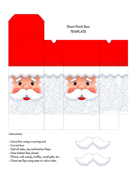 Santa face box - short