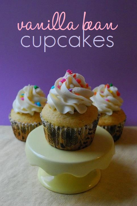 Vanilla Bean Cupcakes.