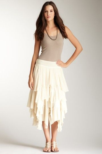 Hazel  Cascading Ruffle Skirt