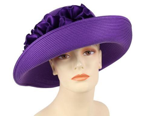Hand Sculpted Hat Special Event Free Form Church Dressy Lavender Fur Felt Hat Winter Wedding