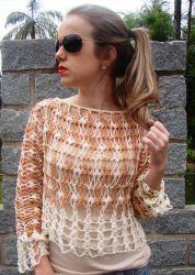 Blusa de crochê de grampo!: Blusas Crochet, Crochet Blouse, Blouse, Crochet, Blusas Tejidas